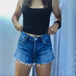 PACSUN blue denim mid-rise shorts